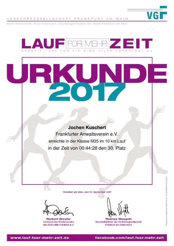 Lauf für mehr Zeit – Frankfurt am Main