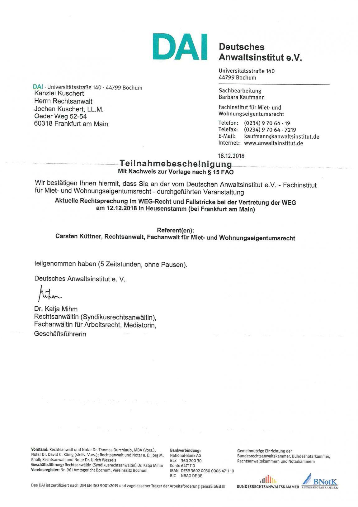 Aktuelle Rechtsprechung im WEG-Recht und Fallstricke bei der Vertretung der WEG